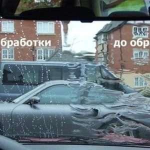 Антидождь до и после обработки
